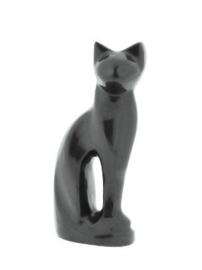 kattenurn zittende kat grijs