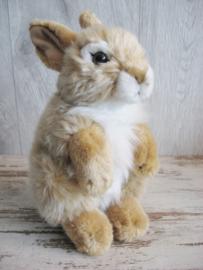 pluchen konijn beige-wit