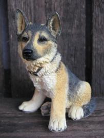 beeldje Duitse Herder puppy vintage