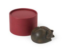 polyresin mini-urn Slapende kat