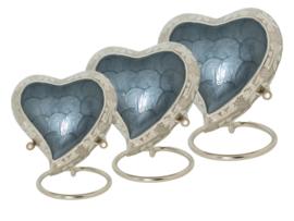urn Heart met gegraveerde zijkant grijs