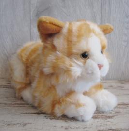 pluchen kat lichtrood-wit