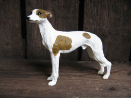 beeldje Whippet wit-brindle