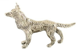 miniatuur Herder zilvertin