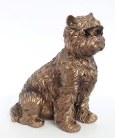 beeldje West Highland White Terriër bronskleur