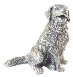 beeldje Berner Sennenhond zilvertin