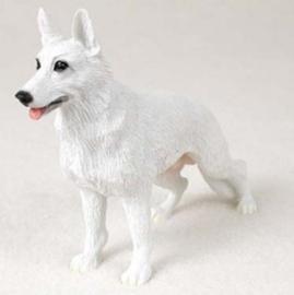 beeldje Witte Herder staand