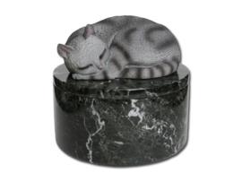 marmeren urn 'Midnight' rond