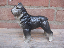 beeldje Bouvier gecoupeerd grijs