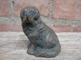 beeldje Sint Bernardhond bronskleur
