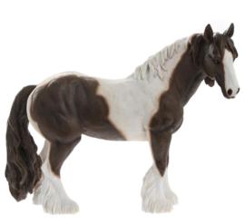 beeld paard Cob bruin-wit | 26 cm
