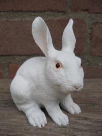 beeldje konijn wit