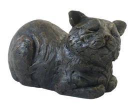asbeeld/kattenurn Tevreden kat
