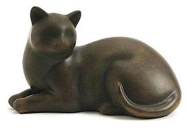 kattenurn liggende kat bronskleur