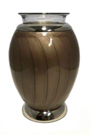 urn met gedenklicht lichtbruin