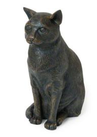asbeeld/kattenurn Zittende kat groot