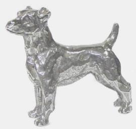 miniatuur Jack Russell Terrier zilvertin