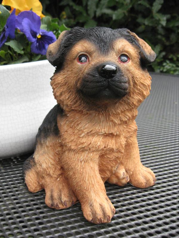 beeldje/asbeeldje/urn Duitse Herder puppy