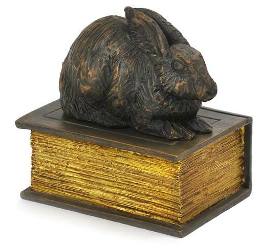 konijnenurn Konijn op boek