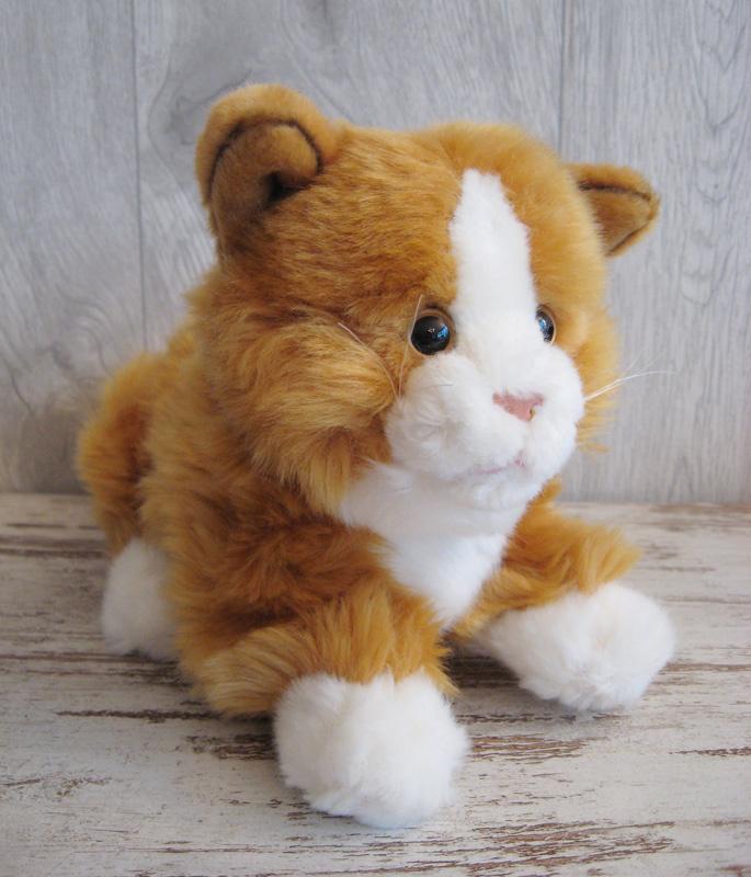 pluchen kat rood-wit