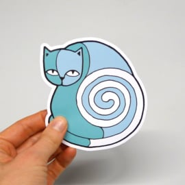 Sticker - Turquoise Cat