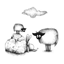 Connemara's en een konijn - kaart