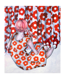 Flower girl - art print