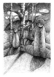 Into the woods - kunstprint