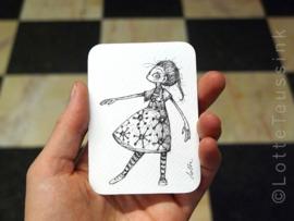 Mini tekening - 6,5 x 9 cm