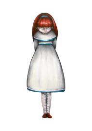 Deserted girl logo - art print