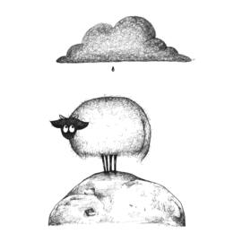 Connemara en regendruppel - kunstprint