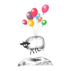 Connemara met ballonnen - kunstprint