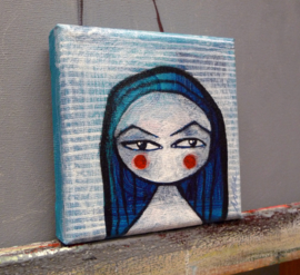 Angry girl | 10x10cm | FOR SALE