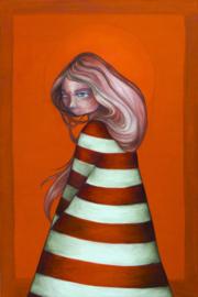 Lighthouse Girl enamel pin