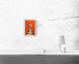 Lighthouse girl - kunstprint