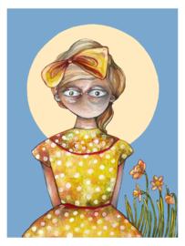 Spring girl - art print
