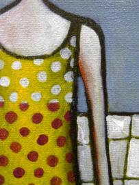 Polka dot bathing suit | 40x20cm | TE KOOP