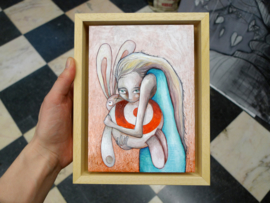 Girl with Target Bunny | SOLD