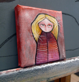 Shiny hair girl | 10x10cm | FOR SALE