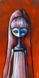 Girl with necklace | 40x20cm | VERKOCHT