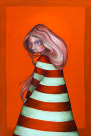 Lighthouse girl - kunstprint