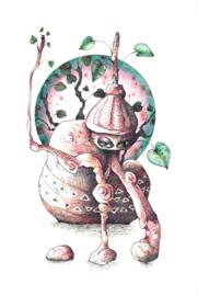 Botanical monster - art print
