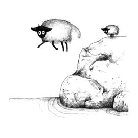 Connemara's grote sprong - kunstprint