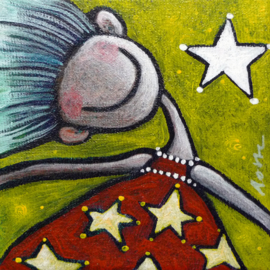 Starry happy | 10x10cm | FOR SALE
