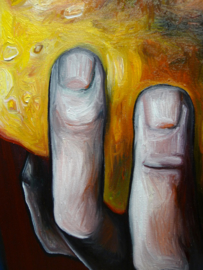 Holding On To The Gold | 80x60cm | FOR SALE