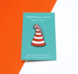 Lighthouse Girl emaille pin