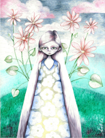 Flower girl - kunstprint