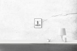 Beach polaroid I - zwart/wit print