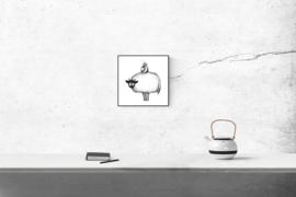 Connemara en vogel - kunstprint