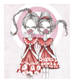 Lollipop girls - kunstprint